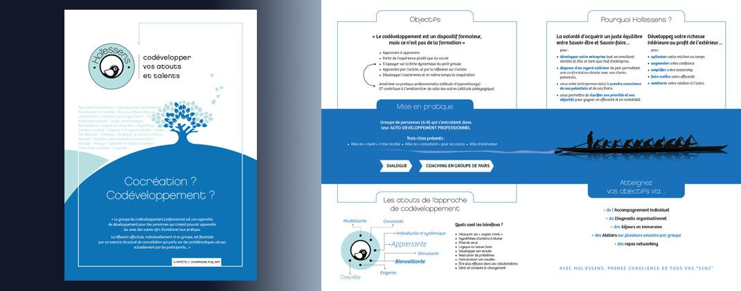 création de plaquette 4 pages format A4 fermé conception rédaction impression numérique